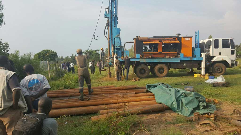 Drilling-and-casing-Onjinyo-KEGO-Orphanage-Well-project